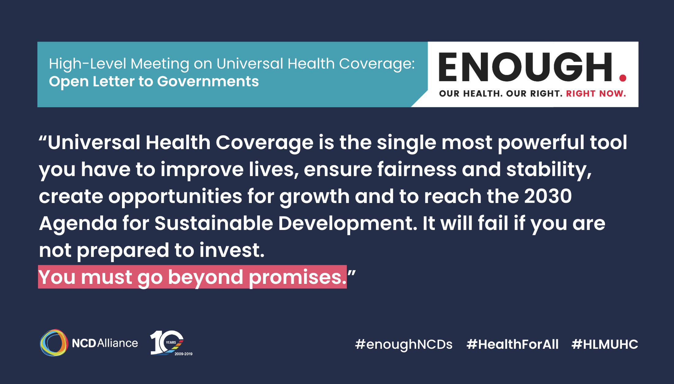 UHC – From Promises To Progress On Health For All